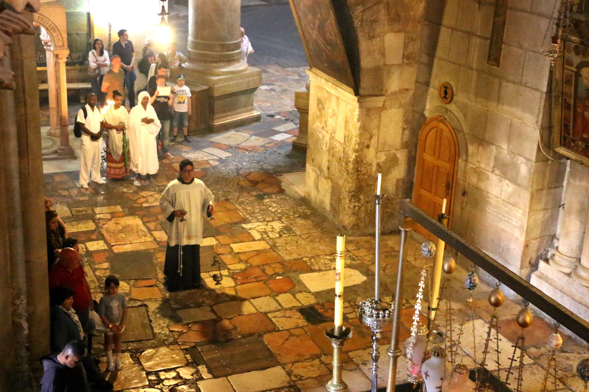 JERUSALEM, ISRAEL, MAY 29, 2016. Beginning of mass at the Church of the Holy Sepulchre in the Christian Quarter of the Old City, East Jerusalem, Israel. 05/29/2016. Photo by Donna M. Airoldi