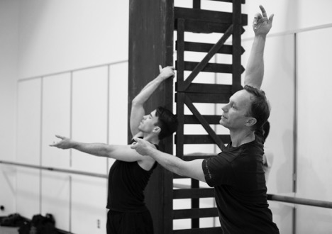 Peter Boal rehearses at Pacific Northwest Ballet, where he is the artistic director. (Credit: Angela Sterling)