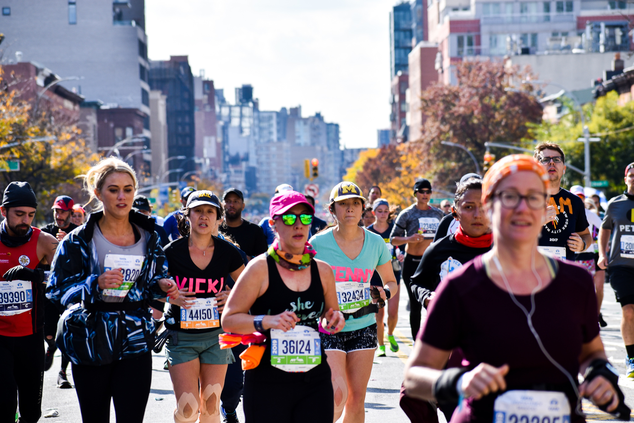 An estimated 3,000 menstruators, including women, non-binary people, and trans men, ran while menstruating during yesterday's marathon. (Kathryn Herchenroeder/NYCity News Service)