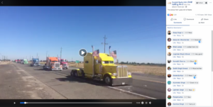 Convoy from Yuba City to Fresno, California, in October 2017