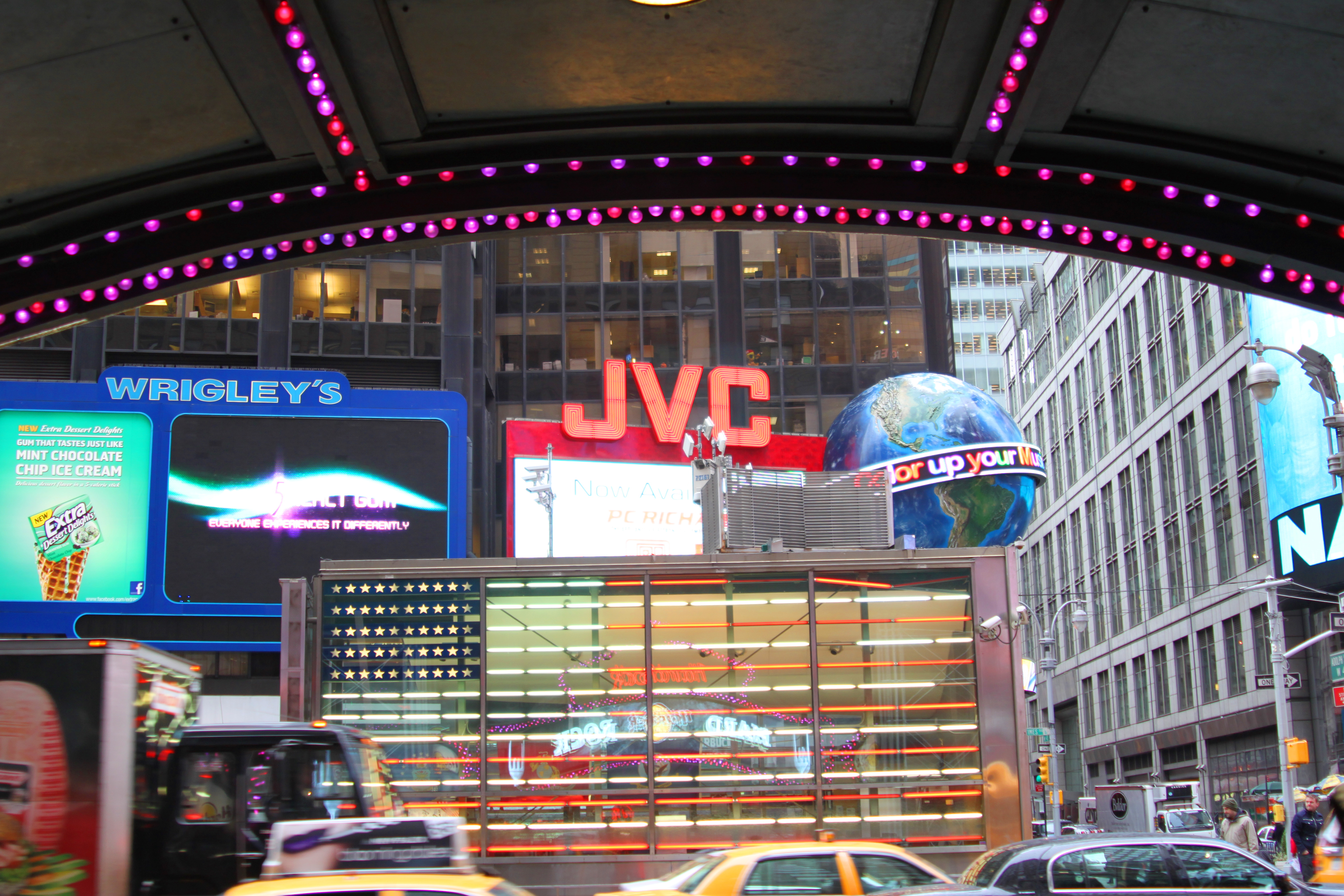 A slice of the world at Times Square in New York City