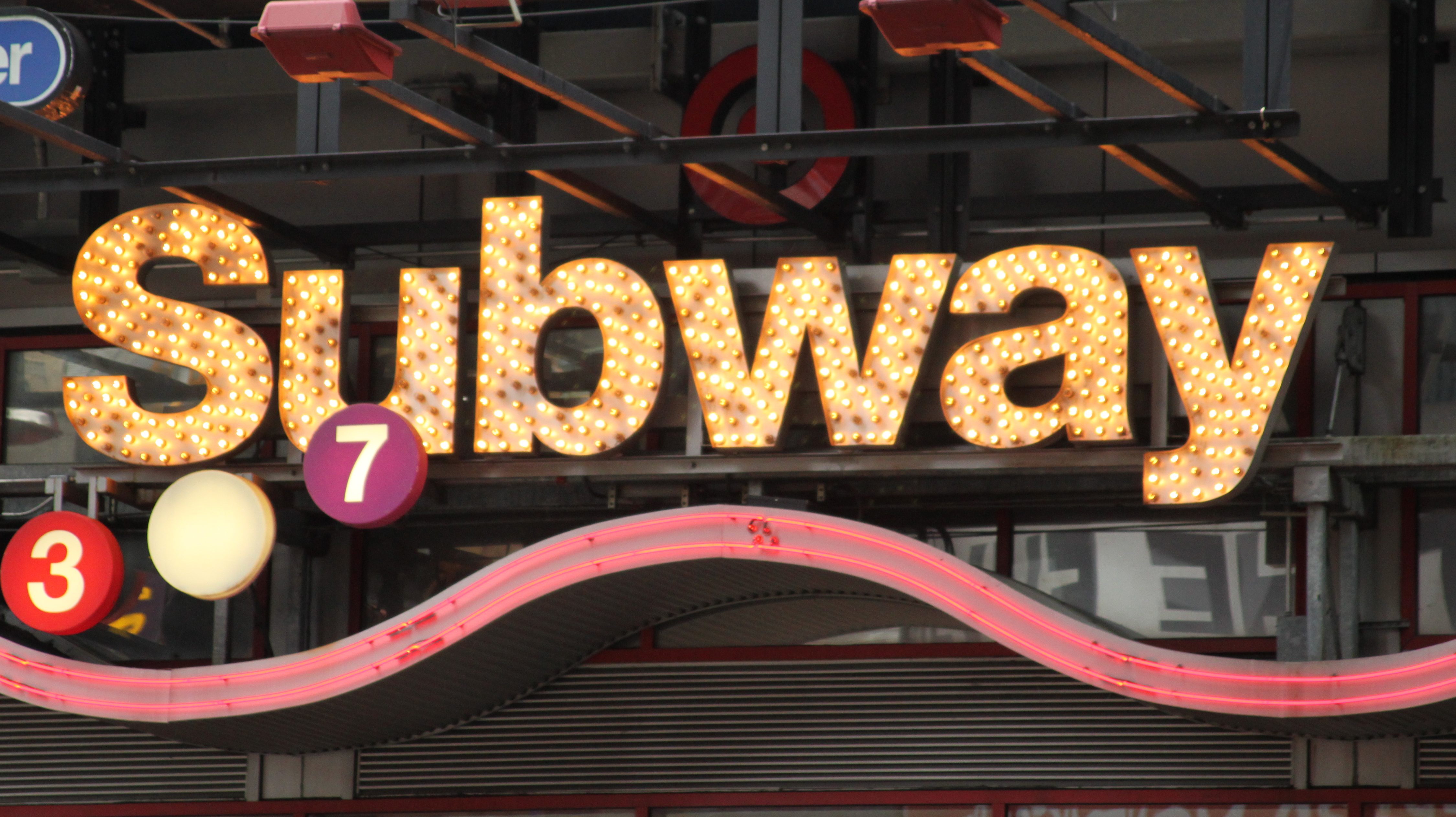 Entrance to the Times Square Subway Station