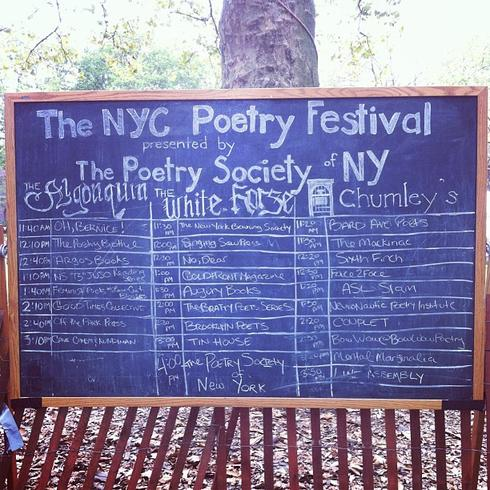 3rd Annual NYC Poetry Festival 2013 on Governor's Island