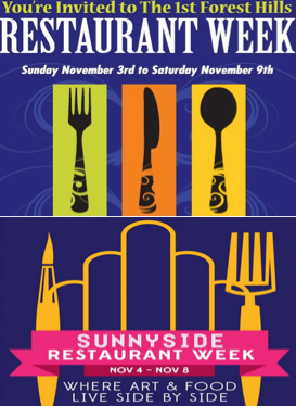Mapping Out Sunnyside and Forest Hills Restaurant Weeks