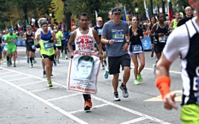 Running for Ayotzinapa, by Gustavo Martínez Contreras