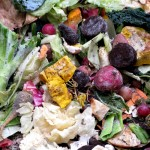 Compost Scraps Include Veggie scraps and Paper