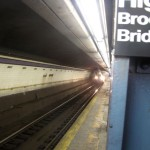 The C Train finally arrives at the High Street Station in Brooklyn. (Nicholas Rizzi/CUNY)
