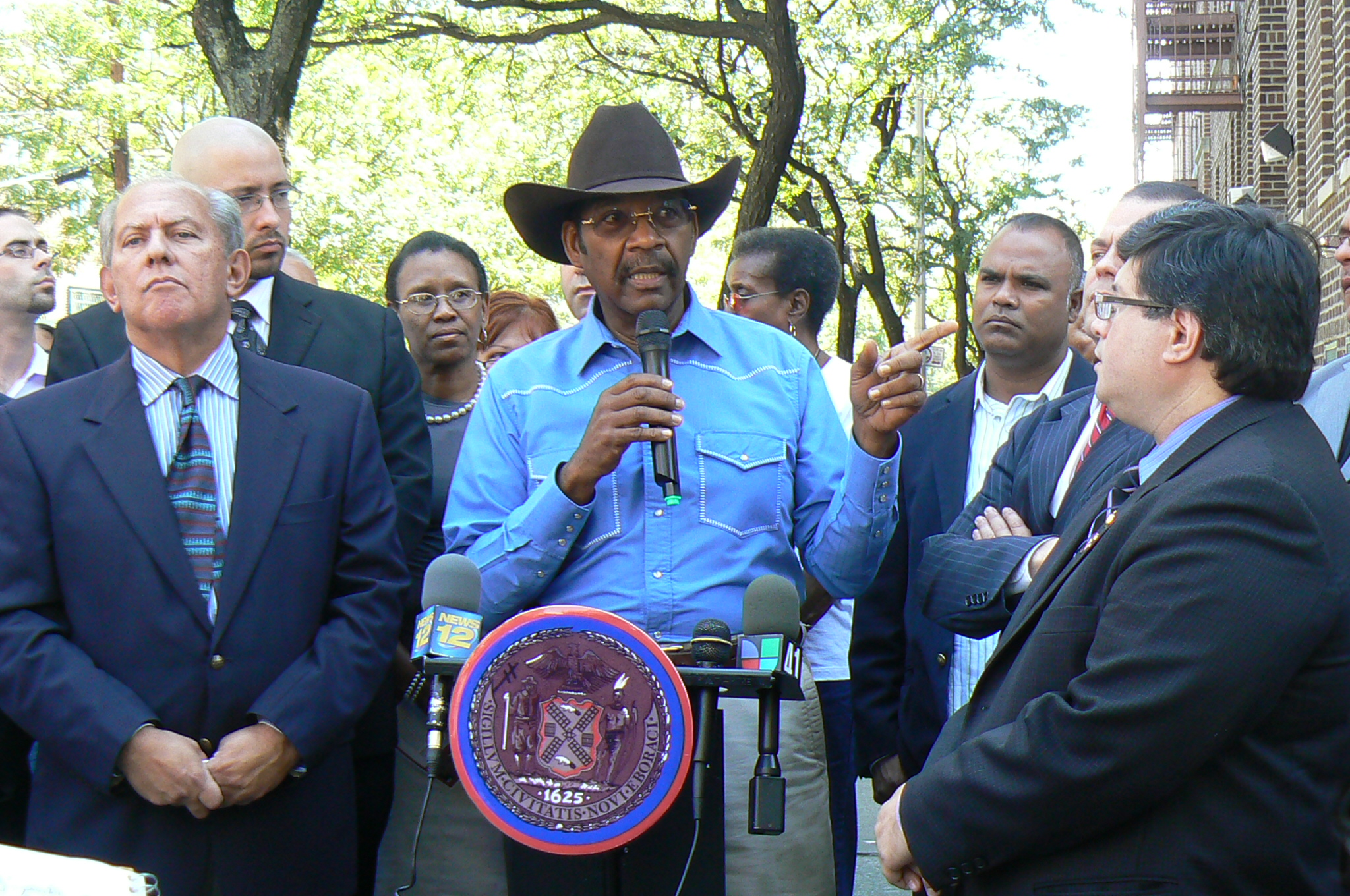 Senator Ruben Diaz, Sr. at South Bronx press conference