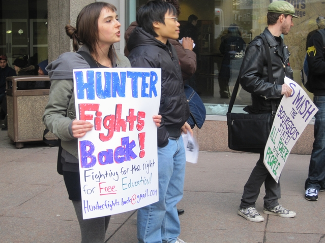 Hunter Students Vocalize Their Frustrations at Student Rally