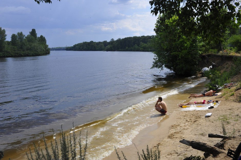 The Dnipro beach