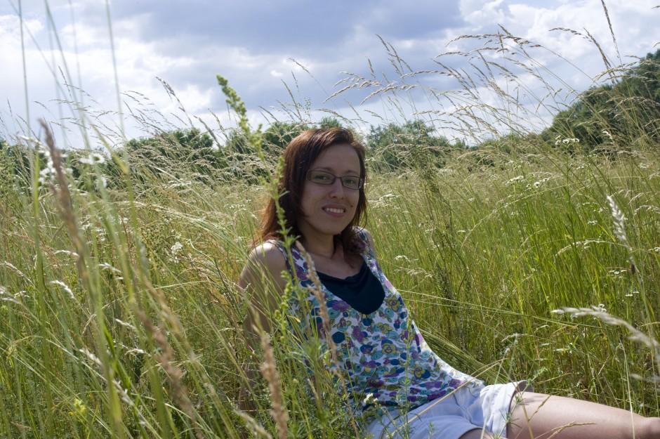 Oksana soaks up the sun