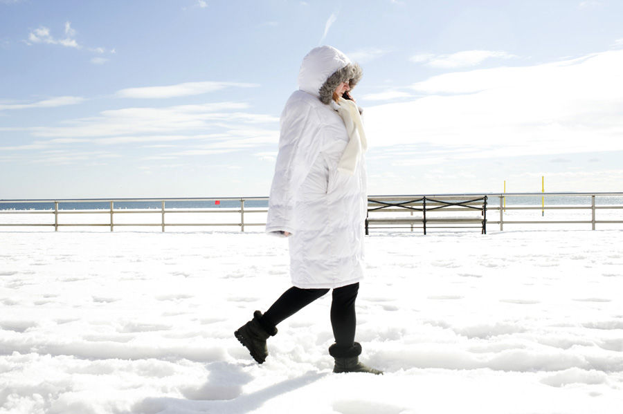 Brighton Beach snowstorm