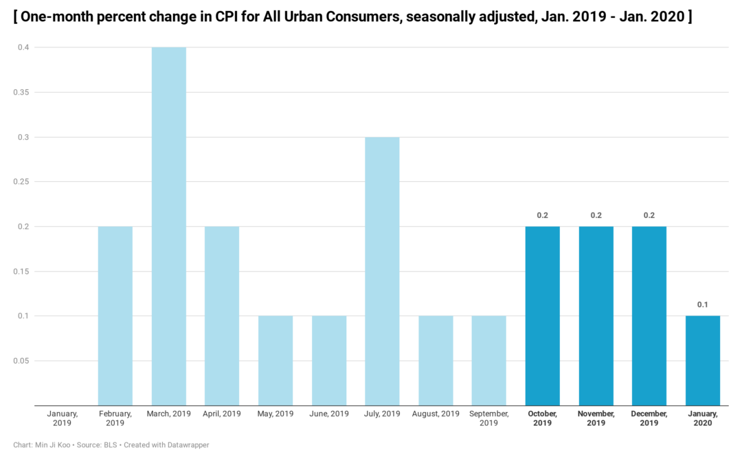 The U.S. Consumer Prices Went Up 0.1% in January But Inflation Slowed Down.