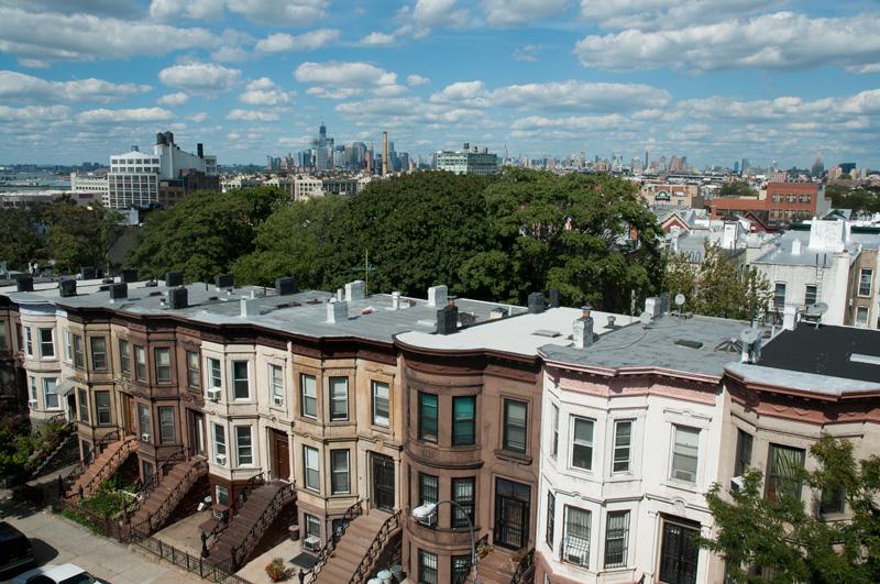 Brownstones in Sunset Park, Brooklyn. September 14, 2012.