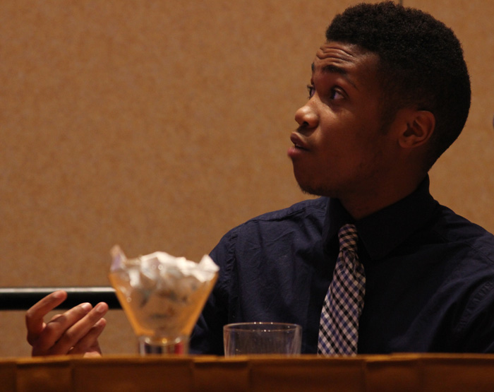 Former college basketball player Kye Allums, 23, spoke to attendees about reporting in the LGBTQ community at NABJ 2013 Conference in Orlando, Fl. Photo by Orie Givens