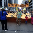 At the largest climate march in history, which saw some 310,000 people converge on New York City streets in 2014, activists made a point to tie climate disruption to those seen as most responsible - big corporations, the financial industry and governments that allow them to pollute with impunity.