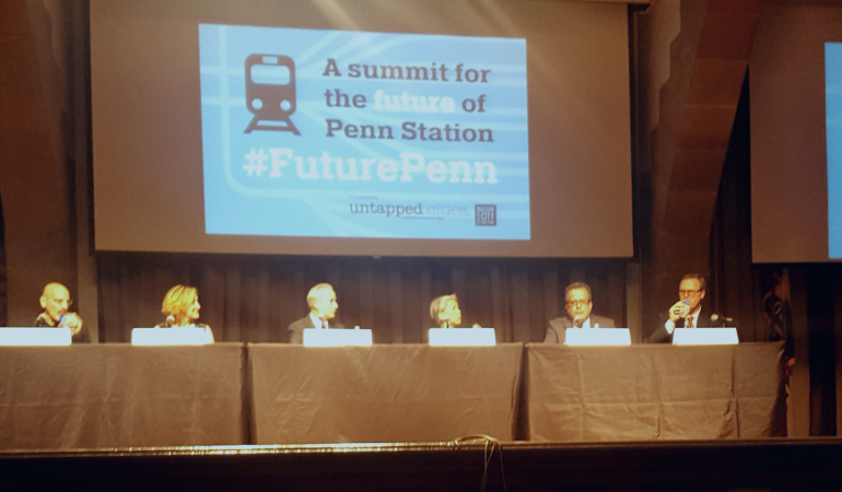 "Panelist discuss the upcoming Penn Station redevelopments at ""The Future of Penn Station"" on Nov. 2 (Photo/Janae Hunter)"