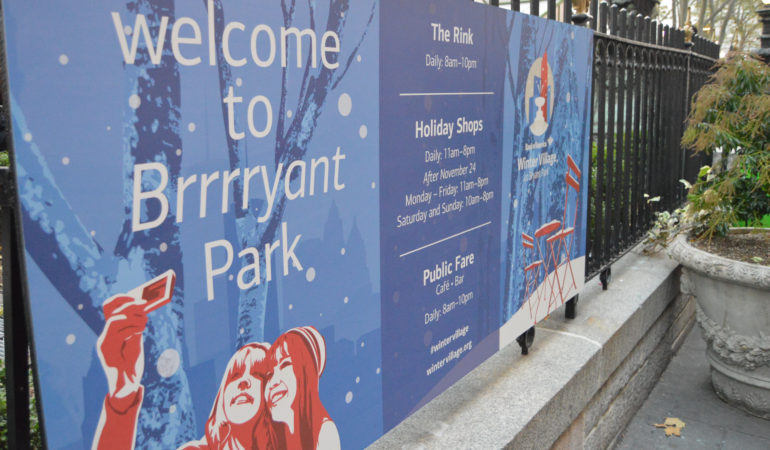 Bank of America's Winter Village at Bryant Park is in its 23rd season which now hosts 125 pop-up shops during the holiday season.