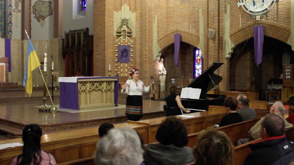 Liudmila Joy-Vasuta performs at Our Lady of Refuge church in Brooklyn on March 23, 2014.