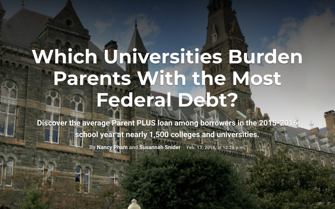 Which Universities Burden Parents With the Most Federal Debt?