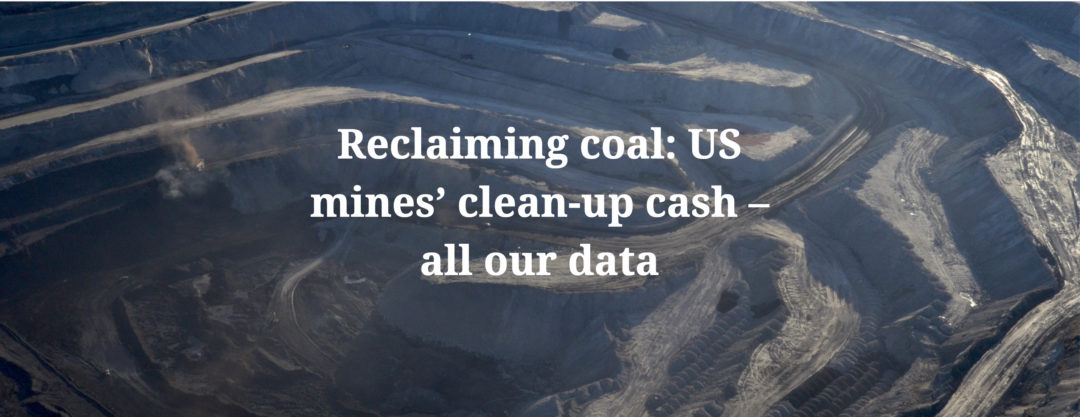 Reclaiming coal: US mines' clean-up cash – all our data