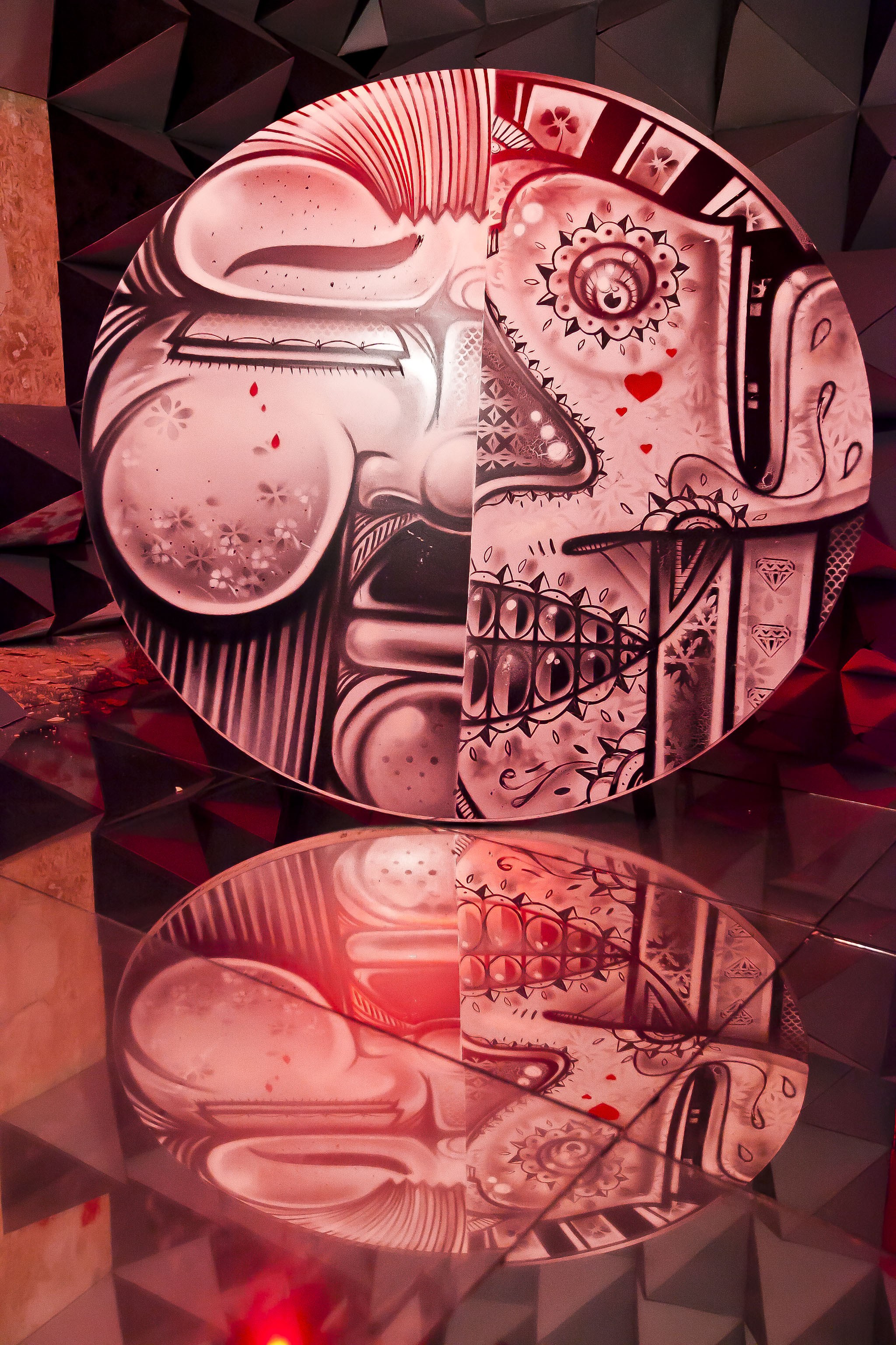 """'""""Reflections,"""" created by artists How and Nosm, occupies a second-floor bedroom at the Andrew Freedman Home. Photo by Marisol Diaz/courtesy of The Riverdale Press"""