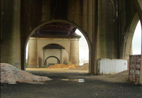 The pathway to Randall's Island will run from 132nd Street under the Amtrak trestle.