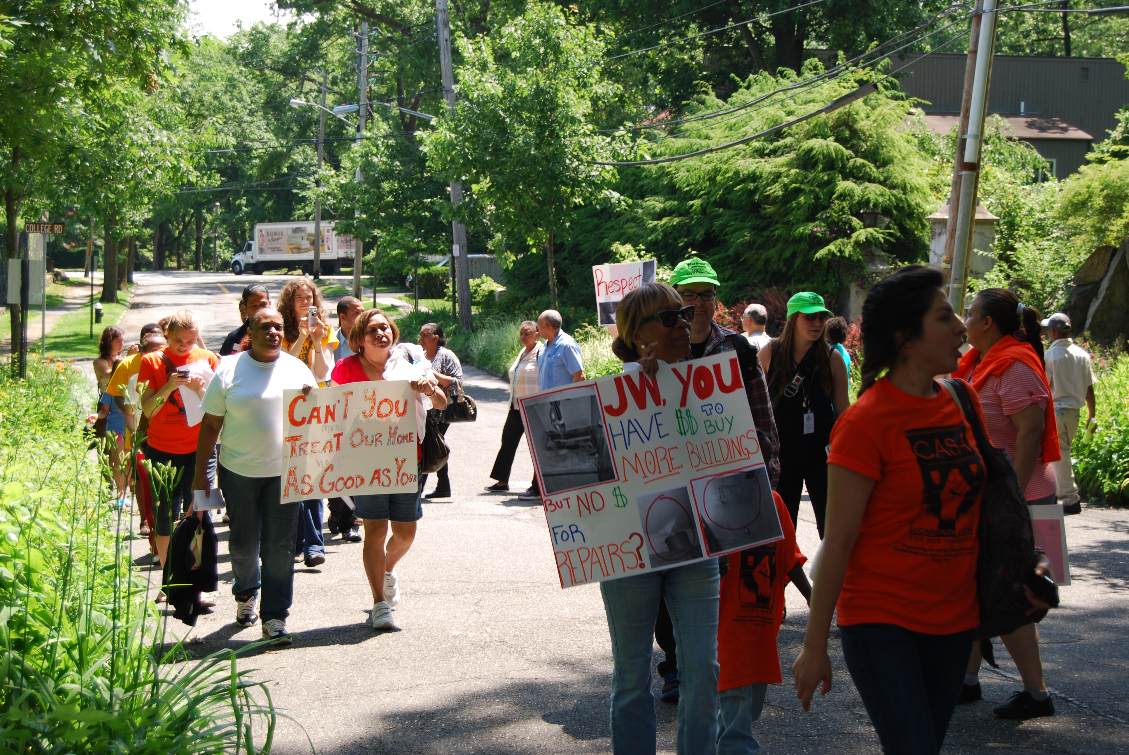 Tenants from a number of Morrisania buildings marched on the home of their Riverdale landlord earlier this summer.