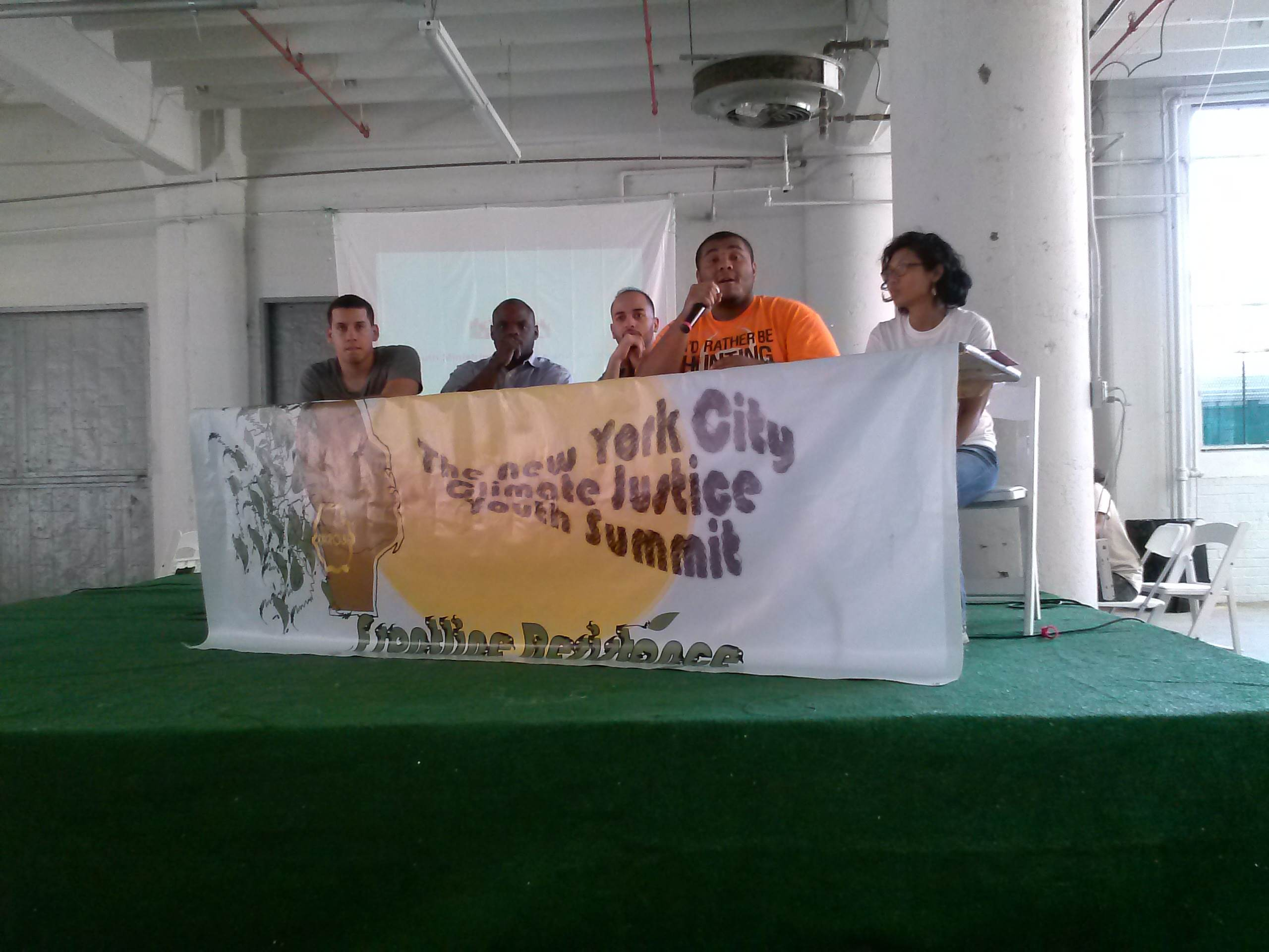 A panel at the New York Climate Justice Youth Summit in Brooklyn.