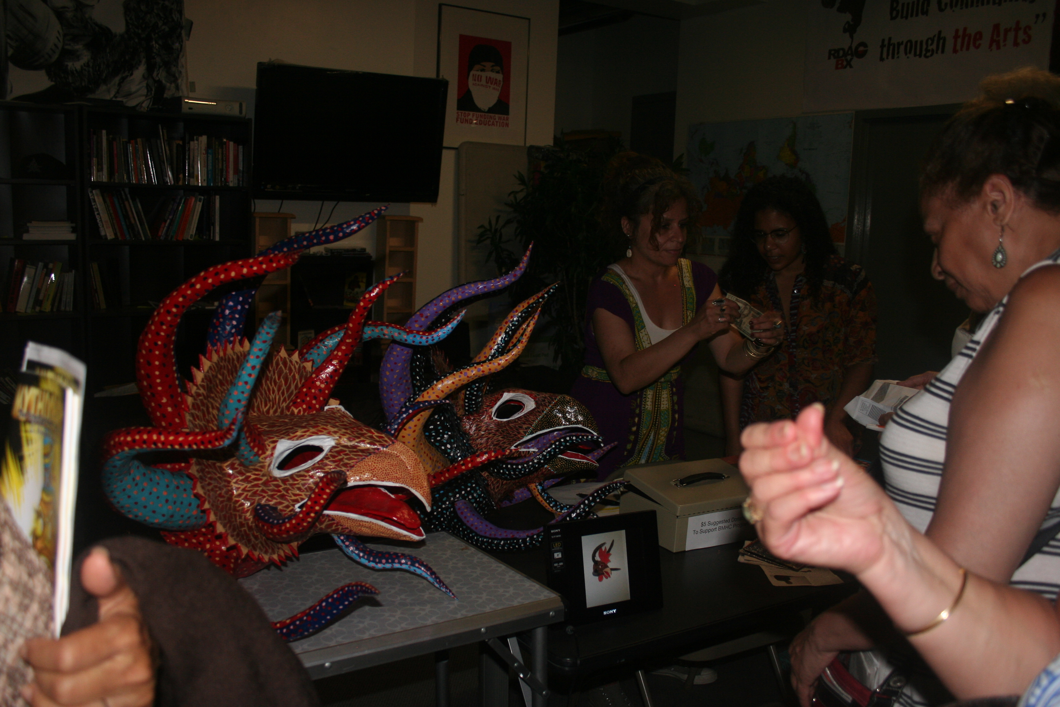 Masks used during Puerto Rican Carnival were displayed at the Bronx Music Heritage Center.