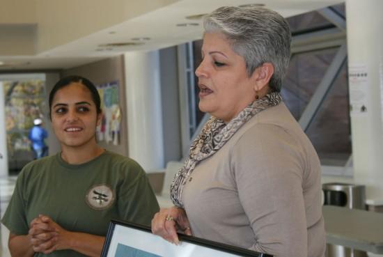 Council member Maria del Carmen Arroyo, right.