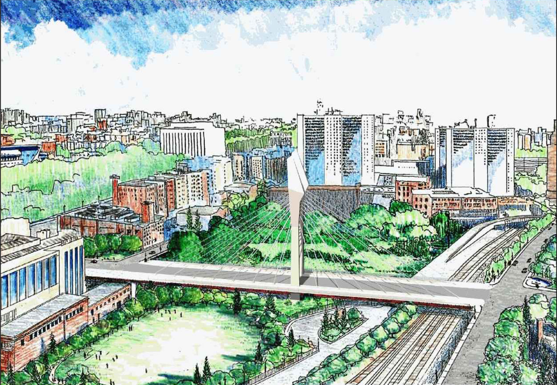 A rendering of the proposed bridge