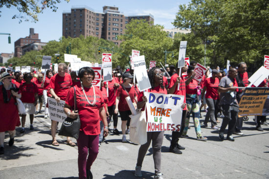 NYCHA residents protest policies