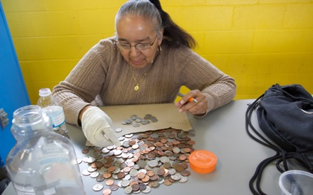 Bronxites learn to save, a few pennies at a time