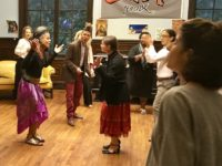 Open Program performers and guests interact through song and dance at the Andrew Freedman Home. Photo by Sarah Matusek.