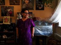 Rosa Velez in her apartment at OUB Houses in Mott Haven. Photo: Trevor Boyer