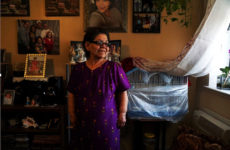 Rosa Velez in her apartment at OUB Houses in Mott Haven. Photo: Trevor Boyer