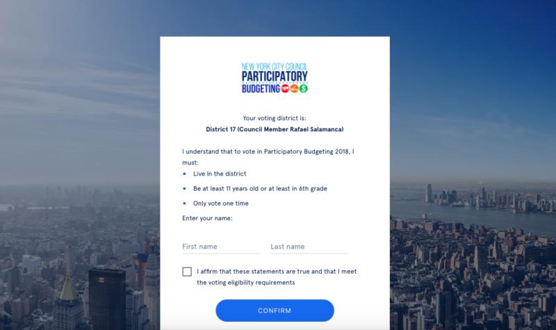 Participatory Budgeting voting underway