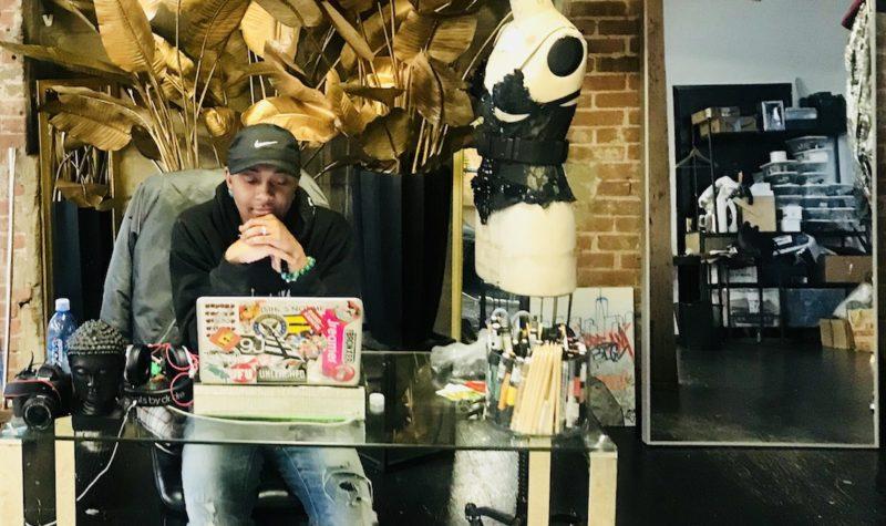 Jerome Lamaar in his Third Avenue studio. Photo: Austin Havens-Bowen.