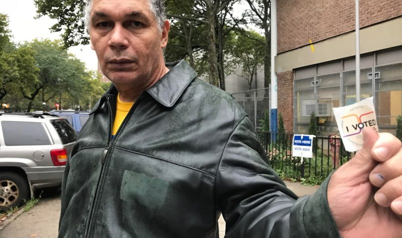 """John Pomales voted for Cuomo, Arroyo, and James. """"The past administration has been doing a good job for the community, so I assume they're going to be doing good [in the next administration],"""" he said."""