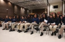 Students at University Prep Charter High School Skype with an astronaut on Nov. 23. Photo by Tiziana Rinaldi