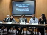 Advocates debate the next census at  a panel discussion at Columbia University on Dec, 3.