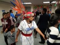 Parents and students participate in a traditional dance at an anti-bullying form at the Mexican American Students Alliance on Jan. 12. Photo: Jaya Sandaresh.