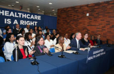 Mayor Bill de Blasio announces plans for NYC Care at Lincoln Medical Center on Jan.
