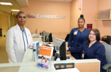 "Dr. ""Siva"" Naryarnan is one of three physicians at the Express Care Clinic, with Patient Care Associates Shironne Rosas and Kellen Lacayo."