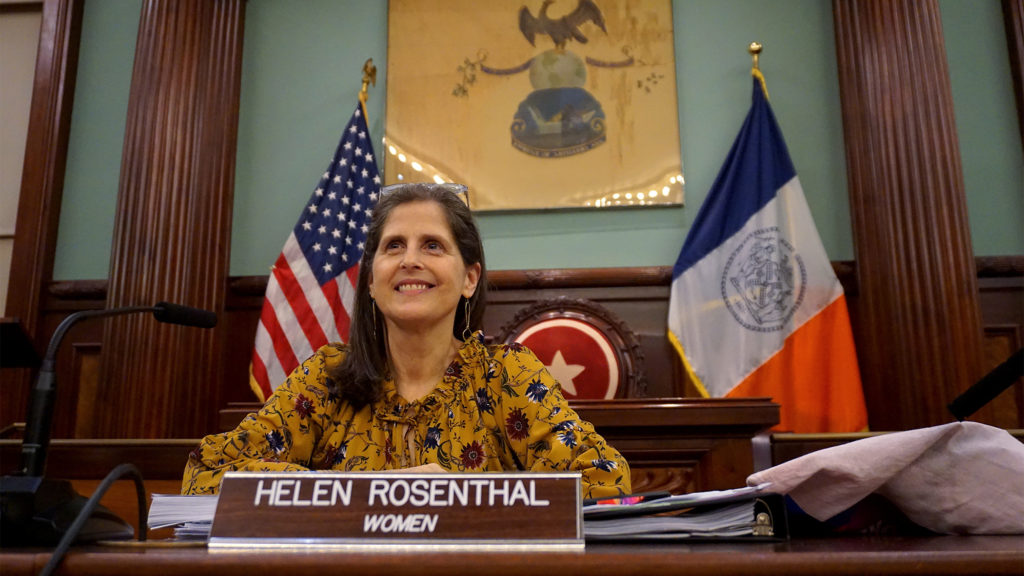 Council member Helen Rosenthal at the first oversight hearing on access for trans, non-gender conforming and non-binary New Yorkers.