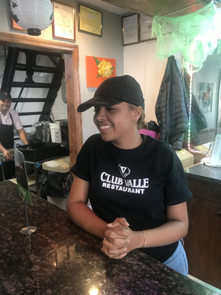 Melissa Vasquez, who works at Club Valle, a Dominican restaurant on East Gun Hill Road