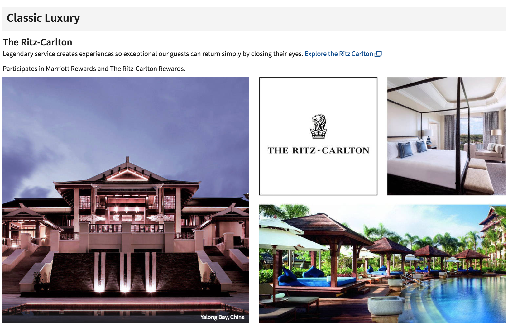 Marriott now boasts eight luxury brands since it acquired Starwood - the Ritz Carlton is one of its old stalwarts.