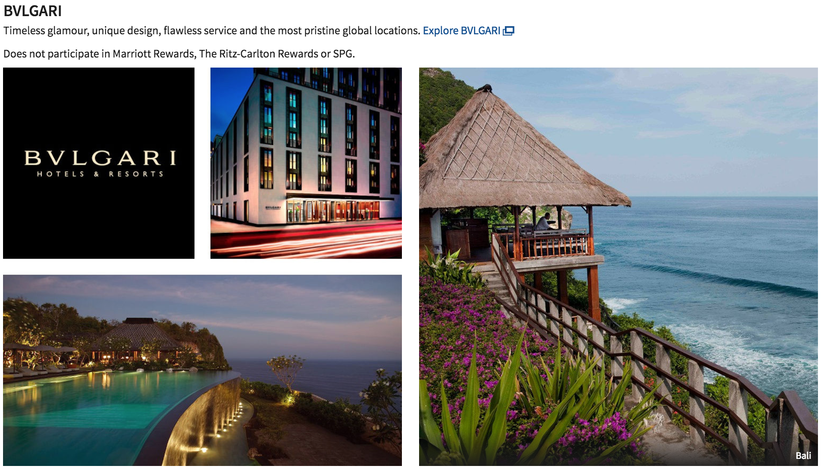 Bvlgari hotels are one of Marriott's luxury brands.