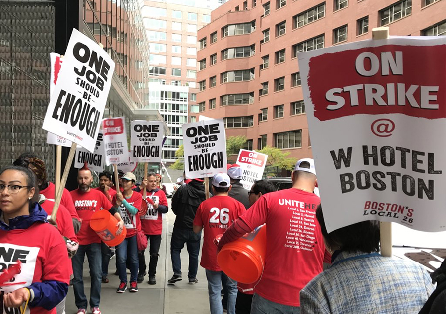 7,700 Marriott Workers Went on Strike in Eight Cities